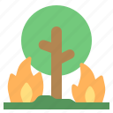 disaster, global, warming, wildfire icon