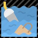garbage, global, sea, warming, waste icon