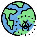 atmosphere, global, pollution, radioactive, warming icon