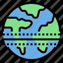 earth, equator, global, warming icon