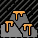 disaster, global, lava, mountain, warming icon