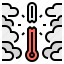 atmosphere, global, overheat, thermometer, warming icon