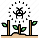 global, growth, plant, radioactive, warming icon