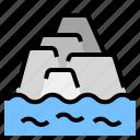 glacier, ice, melt, mountain, warming icon