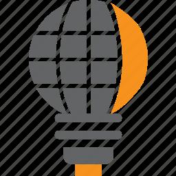 bulb, electric, electricity, globe, idea, lamp, light icon