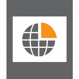 frame, globe, graph, photo, pie icon