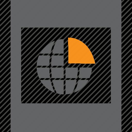 frame, globe, graph, photo, pie icon