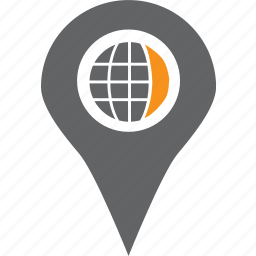 globe, gps, local, location, map, pin, road icon