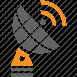 antenna, broadcasting, gps, radar, radio, satellite, signal icon