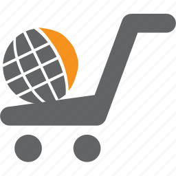 basket, buy, cart, globe, purchase, sale, shop icon
