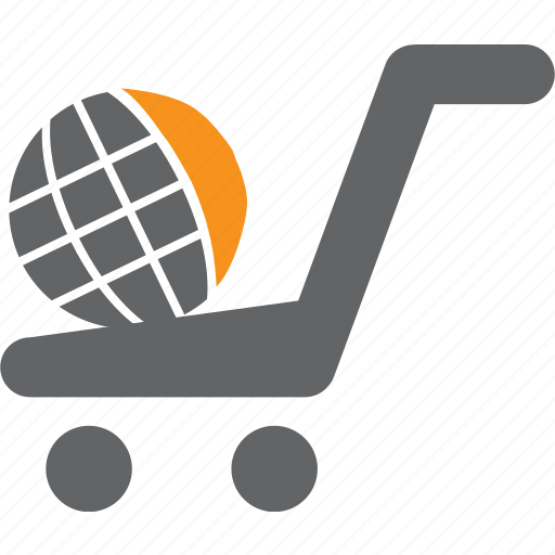 basket, buy, cart, globe, purchase, sale, shop icon