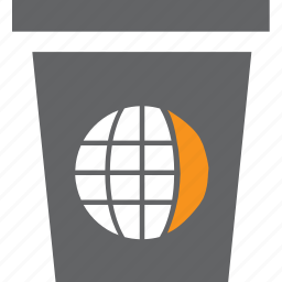 delete, dust, globe, recycle, remove icon