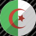 algeria, country, flag, nation icon
