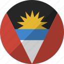 and, antigua, barbuda, country, flag, nation icon