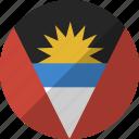 and, country, nation, flag, antigua, barbuda icon