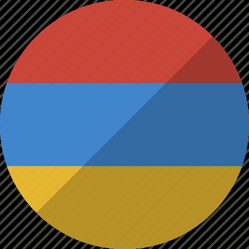 armenia, country, flag, nation icon