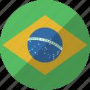 brazil, country, flag, nation