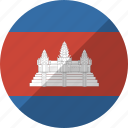 cambodia, country, flag, nation