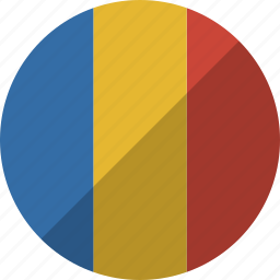 chad, country, flag, nation icon