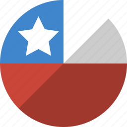 chile, country, flag, nation icon