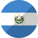 country, el, flag, nation, salvador icon