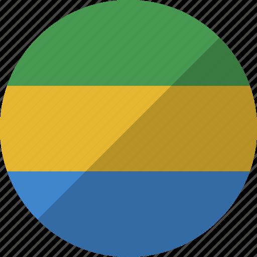 country, flag, gabon, gabonese, nation, republic icon