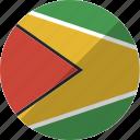 country, flag, guyana, nation