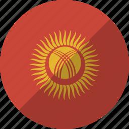 country, flag, kyrgystan, nation icon