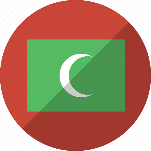 country, flag, maldives, nation icon