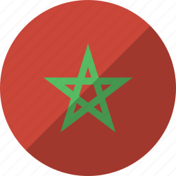 country, flag, morocco, nation icon
