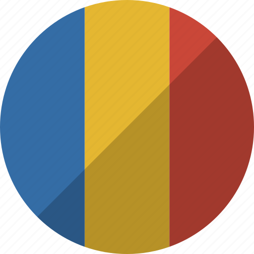 country, flag, nation, romania icon