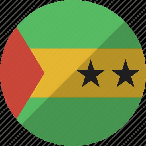 country, flag, nation, principe, sao, tome icon