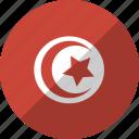 country, flag, nation, tunisia