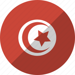 country, flag, nation, tunisia icon