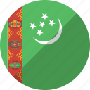 country, flag, nation, turkmenistan