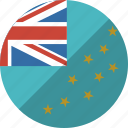 country, flag, nation, tuvalu icon