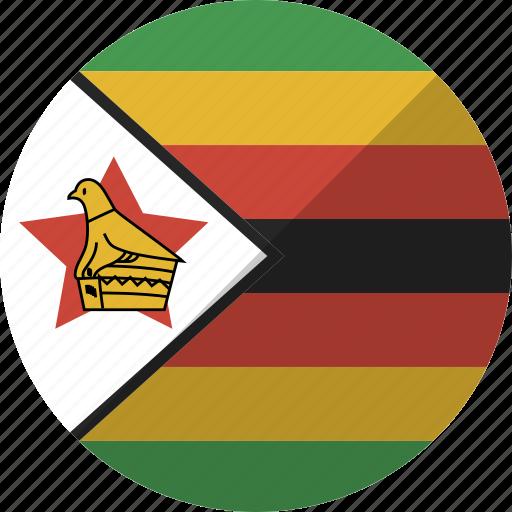 country, flag, nation, zimbabwe icon
