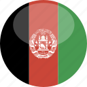 afghanistan, circle, flag, gloss icon