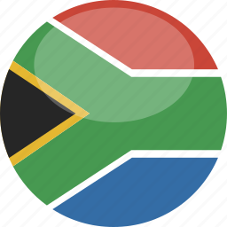 africa, circle, flag, gloss, south icon