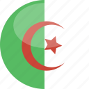 circle, gloss, flag, algeria