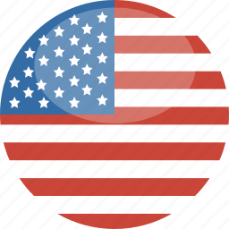 america, circle, flag, gloss, states, united, us icon