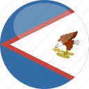 american, circle, flag, gloss, samoa icon