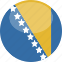 and, bosnia, circle, flag, gloss, herzegovina icon