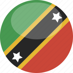 and, circle, flag, gloss, kitts, nevis, saint icon