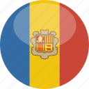 andorra, circle, flag, gloss icon