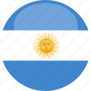 argentina, circle, flag, gloss icon