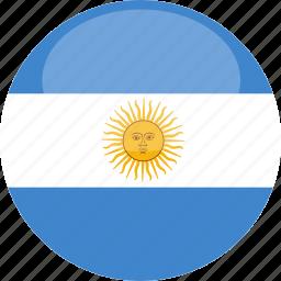 argentina, circle, flag, gloss icon