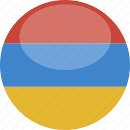 armenia, circle, flag, gloss icon