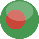 circle, gloss, flag, bangladesh