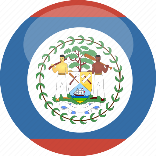 belize, circle, flag, gloss icon